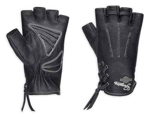 Women's Distressed Perforated Fingerless Gloves 98380-17VW
