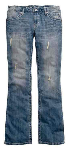 Women's Vintage Curvy Boot Cut Studded Mid-Rise Jeans 99173-16VW