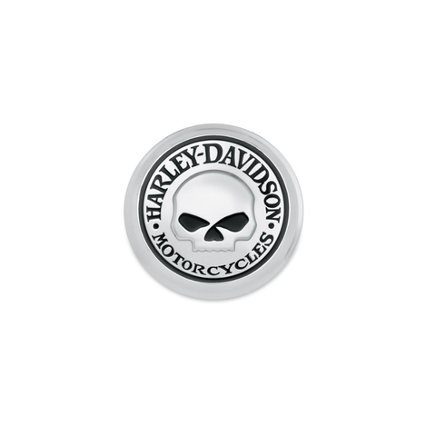 HARLEY-DAVIDSON® WILLIE G SKULL FUEL CAP MEDALLION. 99670-04