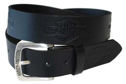 Harley-Davidson® Men's Tradition Bar & Shield Belt Black Leather HDMBT10576
