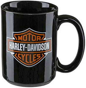 Core Bar & Shield Logo Coffee Mug, 15 oz. - Black HDX-98605