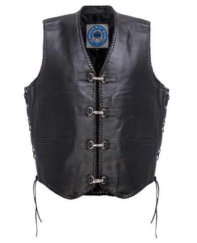 MENS JOHNNY REB 'CAPRICORN' LEATHER VEST JRV10001