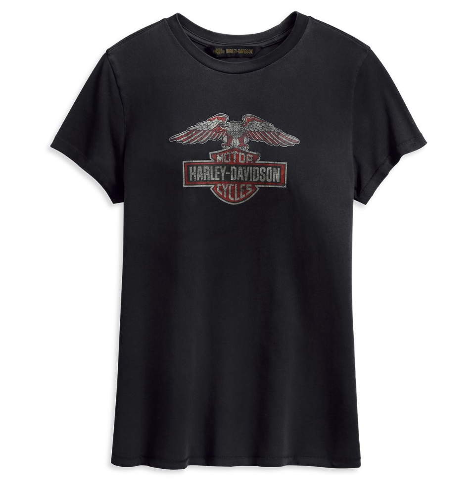 Women's Distressed Eagle Logo Tee - 99231-19VW