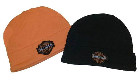 Harley-Davidson® Baby Boys' Hat Set, Infant 2 Pack Gift Set, Black/Orange 3050044