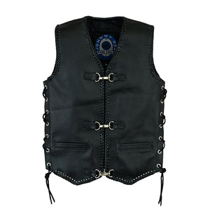 KIDS 'CAPRICORN' LEATHER VEST JRV10011