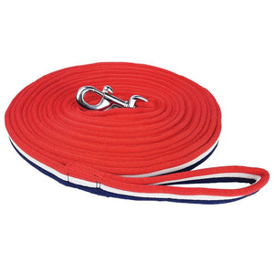 Zilco-brite-lunge-rein-red-white-blue