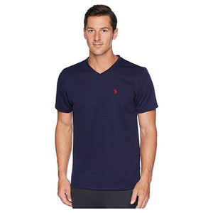 US Polo Assn. Men's Short Sleeve V Neck Classic  T-shirt - Navy