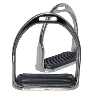 Blue Tag SS Open Bottom Stirrup Irons with Rubber Treads