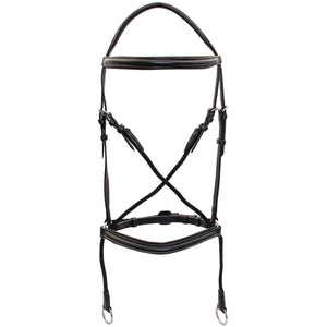 platinum bitless bridle black