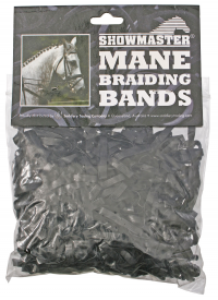 SUPER SILICONE BRAID BANDS BLACK