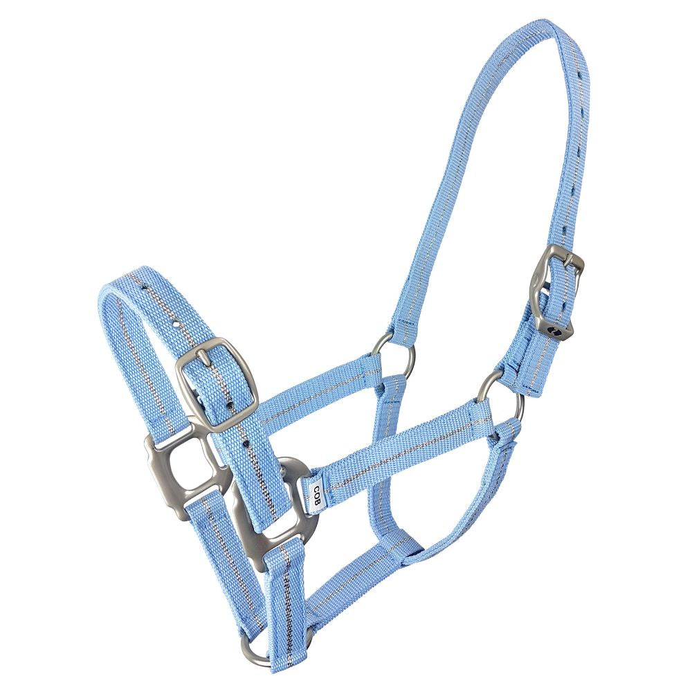 Metallic Braid Headcollar Sky Blue