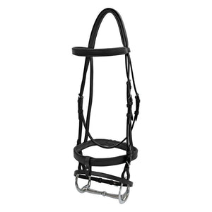 Platinum Flat Padded Hanoverian Bridle Black