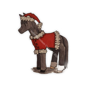 "Greetings Card ""Merry Christmas"" Horse"
