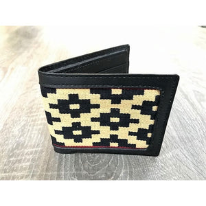 Gaucho Polo Wallet - Brown Leather Blue Pampa