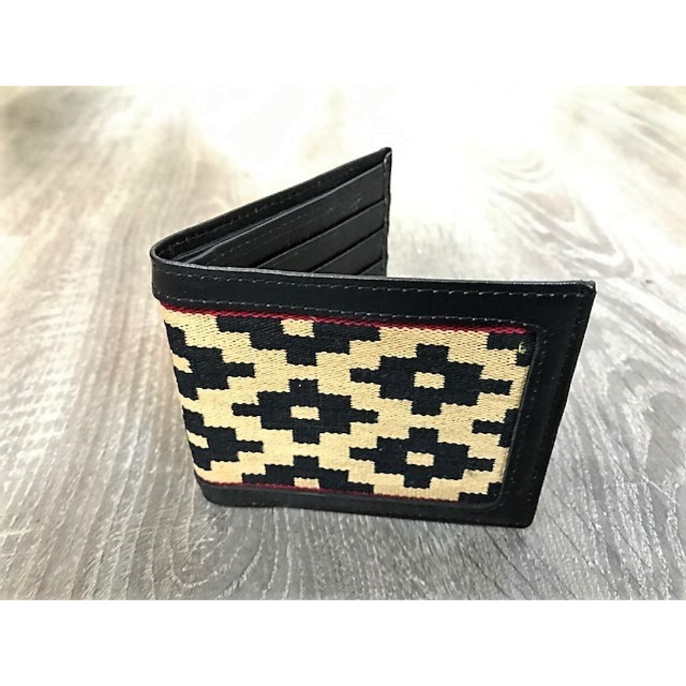 Gaucho Polo Wallet - Black Leather Black Pampa