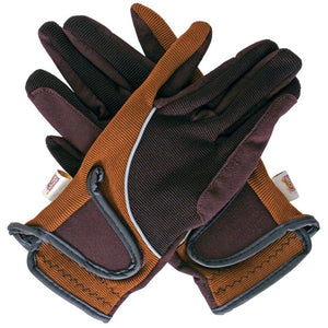 Amara Riding Gloves Brown/Tan