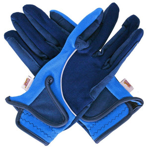Amara Gloves Navy/Light Blue