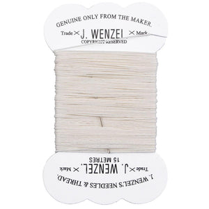 mane plaiting thread white