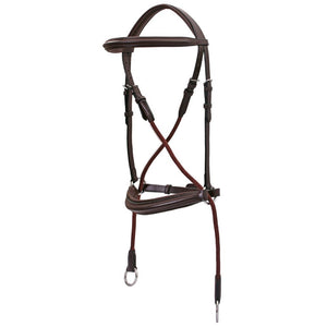 Platinum Bitless Bridle Brown