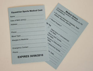 Medical Armband Refill Cards