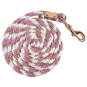 zilco braided lead rope dusk white rose