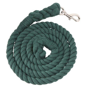 Cotton Rope Lead - Brass Snap