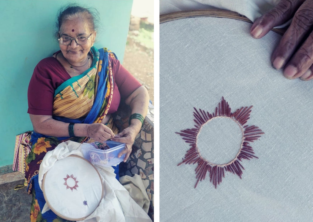embroidery NGO handmade reuse reduce