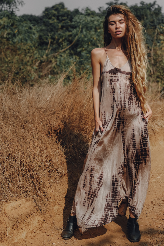 ZEN MAXI DRESS • FAWN TIE DYE