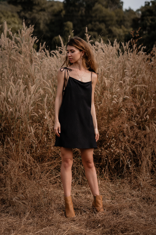 MYSORE MINI DRESS • BLACK