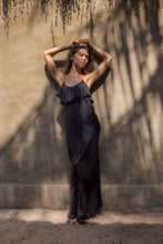 Load image into Gallery viewer, Silk Flora Maxi Dress • Black