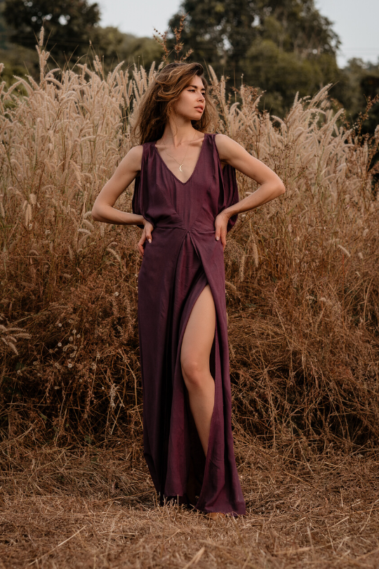 KATE MAXI DRESS • DEEP AMETHYST