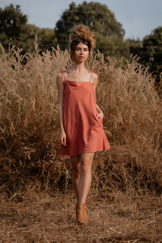 MYSORE MINI DRESS • BURNT BRICK