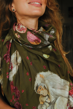 Load image into Gallery viewer, SILK SCARF • MONKEY