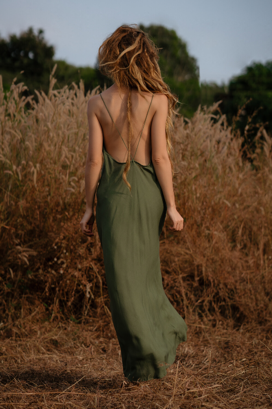 WILLOW DRESS • OLIVE
