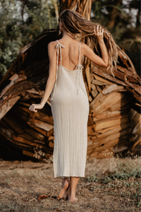 GIGI SLIP DRESS SAND