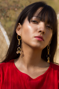 KUCHI SNAKE CHARM EARRINGS
