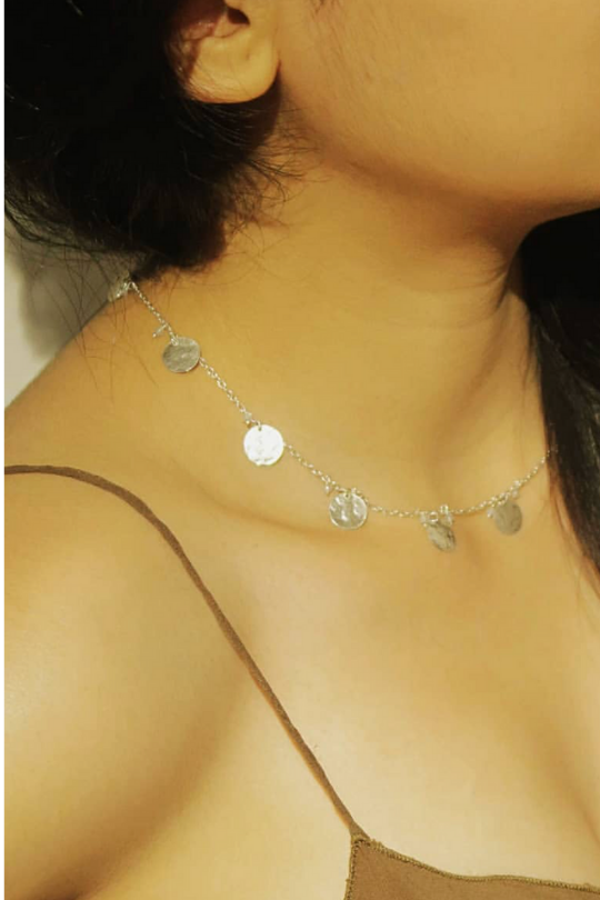 Diane Singh - Solar Necklace Medium - Silver