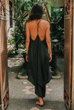 ZEN DRESS • BLACK SILK