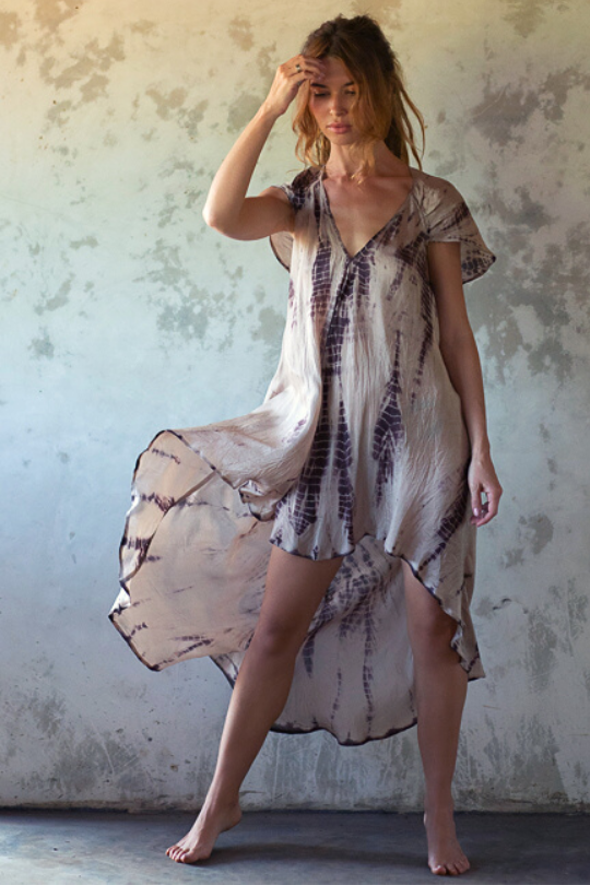 LANA DRESS • FAWN TIE DYE