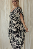 SAHARA DRESS - ZEBRA