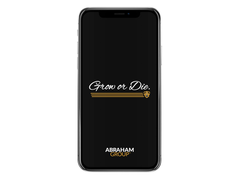 Grow Or Die Script Phone Wallpaper