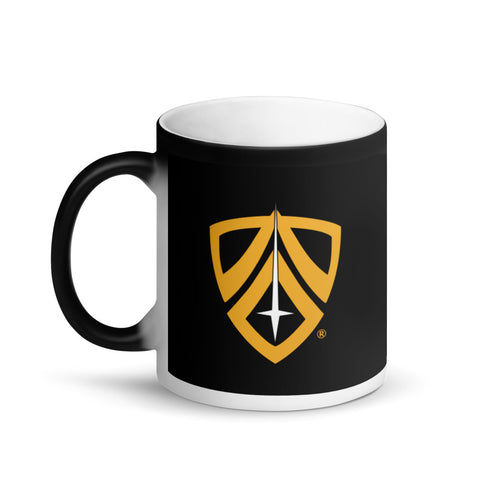 Shield Matte Black Magic Mug