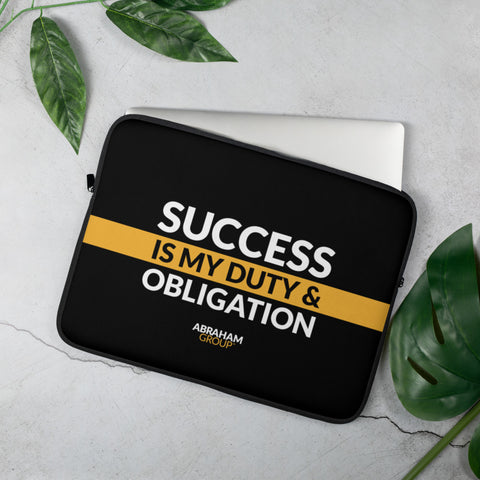 Success Is My Duty And Obligation Laptop Sleeve