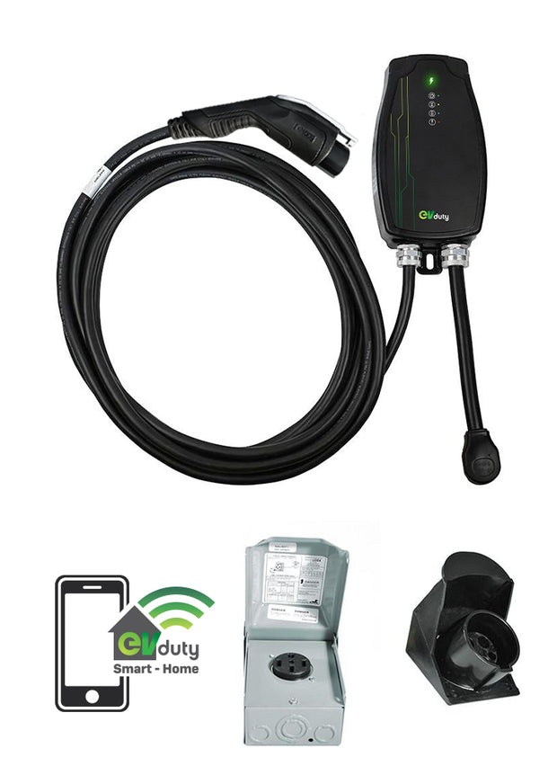 EVduty-40 Smart-Home and NEMA 14-50R plug set