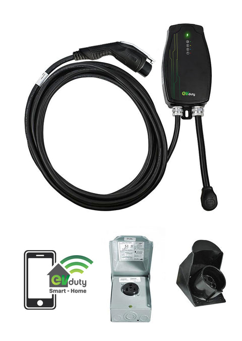 EVduty-40 (30A) portable electric vehicle charging station, NEMA 6-50P