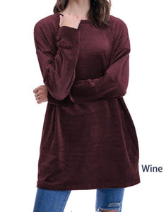 Velour Tunic with pockets