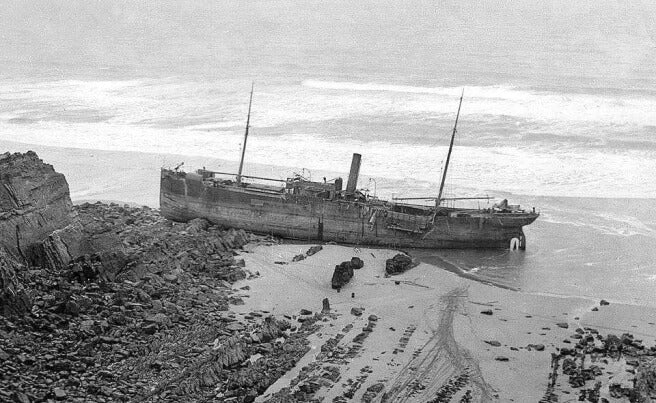 SS Belem at Bude