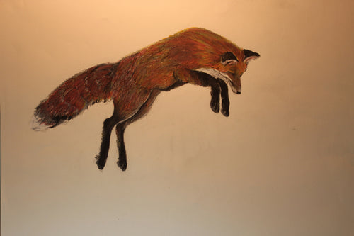 Fox Flight, Pencil/Colored Pencil by Jenny Reeves-Johnson
