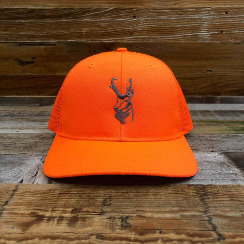 Wyoming Wildlife Federation Trucker Hat- Blaze Orange