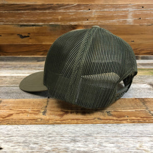 Loden Leather Patch Hat | Wyoming Wildlife Federation
